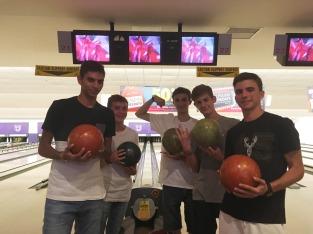 Boys love bowling!